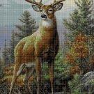 Deer 3 DMC cross stitch pattern in pdf DMC