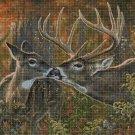 Deers DMC cross stitch pattern in pdf DMC