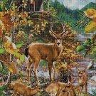 Deers 2 DMC cross stitch pattern in pdf DMC