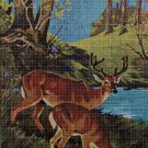 Deers 4 DMC cross stitch pattern in pdf DMC