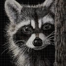 Raccoon DMC cross stitch pattern in pdf DMC