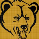 Angry Bear silhouette cross stitch pattern in pdf