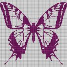 Colorful butterfly silhouette cross stitch pattern in pdf