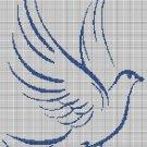 Dove of peace silhouette cross stitch pattern in pdf