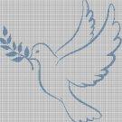 Dove of peace2 silhouette cross stitch pattern in pdf
