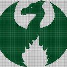 Dragon wing silhouette cross stitch pattern in pdf