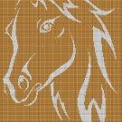 Foal-horse silhouette cross stitch pattern in pdf