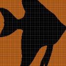 Gold-fish silhouette cross stitch pattern in pdf