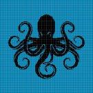 Octopus2 silhouette cross stitch pattern in pdf