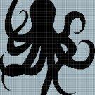 Octopus3 silhouette cross stitch pattern in pdf