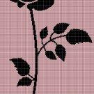 ROSE silhouette cross stitch pattern in pdf