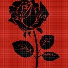 ROSE3 silhouette cross stitch pattern in pdf