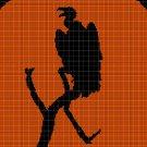 Vulture silhouette cross stitch pattern in pdf