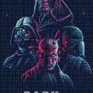 1-4 Dark Side villains cross stitch pattern in pdf DMC