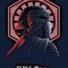 4 Kylo Ren cross stitch pattern in pdf DMC