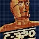 C-3PO cross stitch pattern in pdf DMC