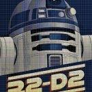 R2-D2 cross stitch pattern in pdf DMC