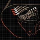 Kylo Ren helmet cross stitch pattern in pdf DMC