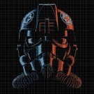 TIE Fighter Pilot cross stitch pattern in pdf DMC