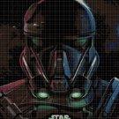 Imperial Death Trooper cross stitch pattern in pdf DMC