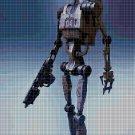 Battle droid cross stitch pattern in pdf DMC
