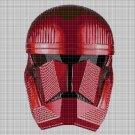 Red Clone Commander cross stitch pattern in pdf DMC