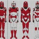 Red Fist Squad cross stitch pattern in pdf DMC