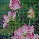 Water lilies 3 cross stitch pattern in pdf DMC