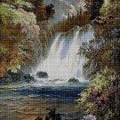 Waterfall cross stitch pattern in pdf DMC