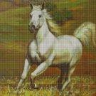 White horse cross stitch pattern in pdf DMC