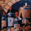 Wine cross stitch pattern in pdf DMC