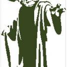 Yoda silhouette cross stitch pattern in pdf