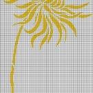 Yellow dahlia silhouette cross stitch pattern in pdf
