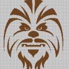 Wookiee silhouette cross stitch pattern in pdf