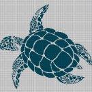 Turtle3 silhouette cross stitch pattern in pdf