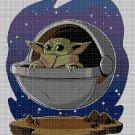 Baby Yoda cross stitch pattern in pdf DMC