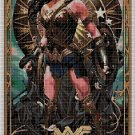 JL Wonder Woman2 cross stitch pattern in pdf DMC