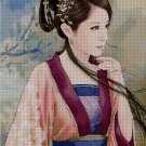 Woman 2 cross stitch pattern in pdf Anchor