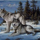 Wolves in winter cross stitch pattern in pdf Anchor