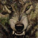 Wolf head art 2  cross stitch pattern in pdf DMC