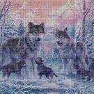 Wolf family  cross stitch pattern in pdf DMC