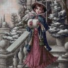 Winter rose cross stitch pattern in pdf ANCHOR