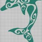 Tribal dolphin  silhouette cross stitch pattern in pdf