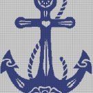 Tribal Anchor silhouette cross stitch pattern in pdf