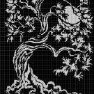 Tree2 silhouette cross stitch pattern in pdf