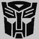 Transformers silhouette cross stitch pattern in pdf