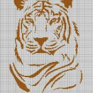 Topaz tiger silhouette cross stitch pattern in pdf