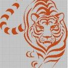 Tiger 1 silhouette cross stitch pattern in pdf