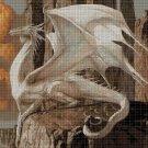 White dragon cross stitch pattern in pdf DMC