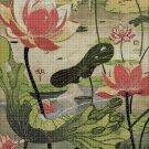 Water-lilies cross stitch pattern in pdf DMC